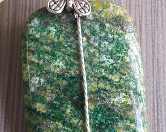 Light Green Turquoise Pendant Necklace