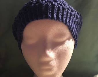 Slouchy hat, in blue