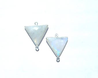 Gem Stone Pendant, moonstone connector, moonstone pendant, moonstone earring, moonstone drop, sterling earring, sterling drop,