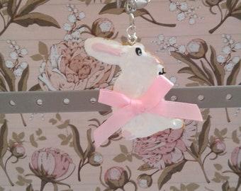 Bunny cookie keychain