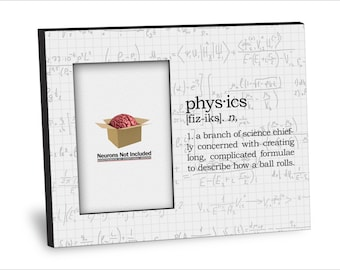 Graduation Picture Frame -Physics Definition Picture Frame - Personalization Available - 8x10 Frame - 4x6 Picture - Choice of Finish