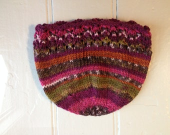 Multicolored Lacy Hat - Newborn Size