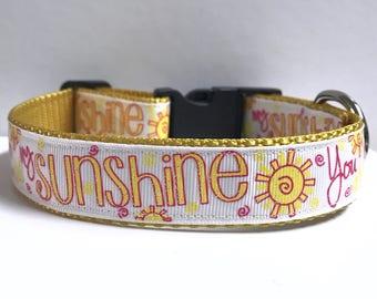 "1"" You are my sunshine collar"