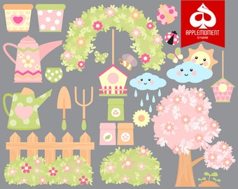 Spring Version One Digital Clipart for Personal and Commercial Use