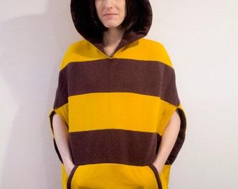 Undertale Monster Kid inspired cosplay poncho hoodie