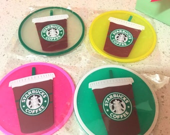 Starbucks Sakura Coffee Coaster . Mug Cup Mat . Rubber Collectibles Souvenirs .Best Gift