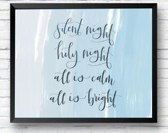 Silent Night - Christmas Digital Print