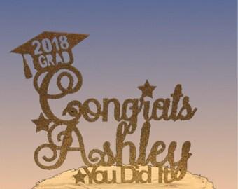 Cake Topper for Graduation, Cake Topper, Grad, Topper, Celebration, Party, Party Favor, Cake, 2018