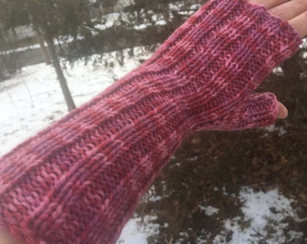 Coming Up Roses Fingerless Mitts