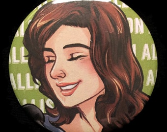 Button Teen Wolf Allison Argent Crystal Reed Hunter Werewolf Television Show TV!