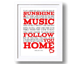 Song Lyrics Grateful Dead Ripple ( Print Only) Lyrics Art Song Print Music Lyrics Music Gifts Typography Lyrics Printed Lyrics Music Lovers