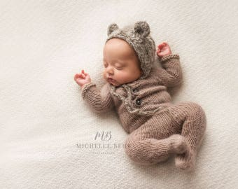 Newborn Footed Romper - Newborn Footie Pajamas - Photography Prop
