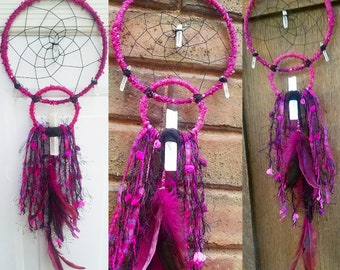 Trippy hippie handmade dreamcatcher