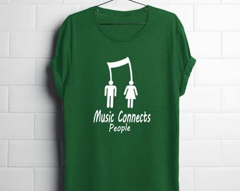 music shirts| music lover| music teacher| music teacher gifts| gifts for musician| musician| dj gifts| drummer gifts| music connects