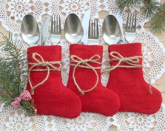 SET OF 30 Christmas Silverware Holders
