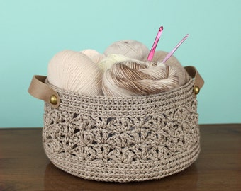 Crochet Pattern - Beacomber Basket - PDF