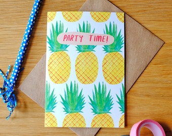 Pineapple Party Time Card