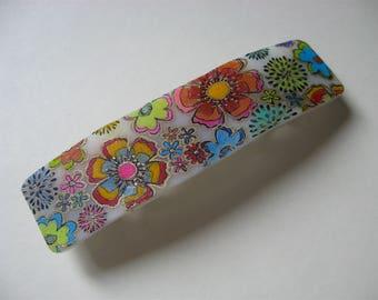 Whimsical Floral Barrette Hair Clip
