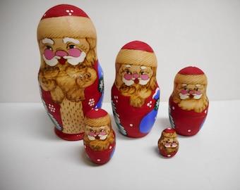 Nesting dolls - Saint Nicholas nesting dolls -  St. Nicholas nesting dolls - handmade nesting dolls - Christmas decoration