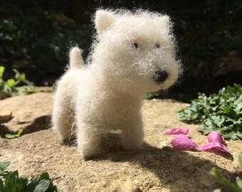 Needle Felted West Highland White Terrier