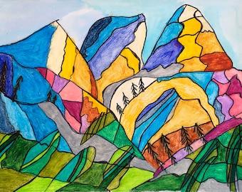 Mountainscape - Print