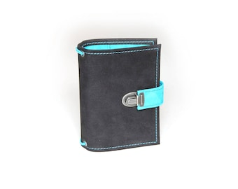 A6 travelers notebook made of nubuck and suede.