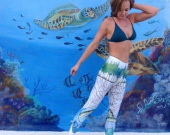"Yoga Pants in original ""Leviathan's Roots"" design"