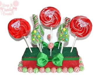 Christmas Tree Lollipop Centerpiece, Christmas Centerpiece, Christmas Candy Centerpiece, Christmas Candy Buffet, Christmas