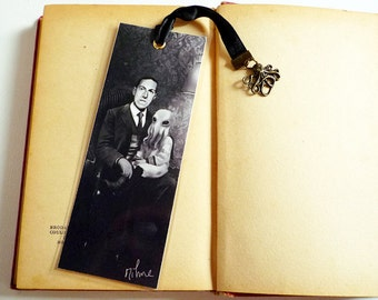 Bookmark H.P. Lovecraft and Cthulhu - illustrated, laminated, handmade
