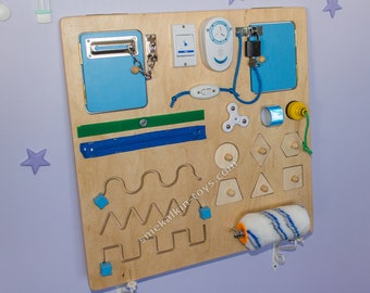 Sensory Toddler Busy Board Montessori Toy