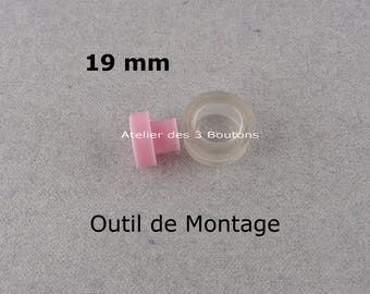 """Assembly tool 3/4"""" for Cover Buttons 3/4"""" (Size 30)"""