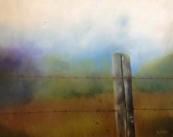 The field, Original 20x16 Oil Painting on Canvas