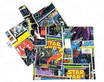 "Reusable Sandwich Bag & Reusable Snack Bag in ""Star Wars Comics"" cotton print - Back to School"