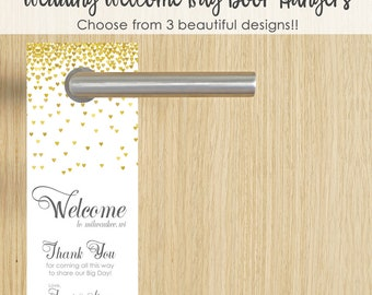 Hotel Welcome Bag- Wedding Welcome Gifts- Wedding Hotel Gifts- Wedding Welcome Bag Tags- Hotel Wedding Welcome Bag Tags- Wedding Door Hanger