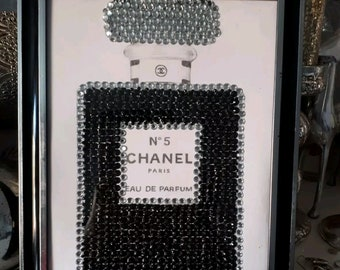 Hand beaded Chanel No5 Inspired Perfume Bottle
