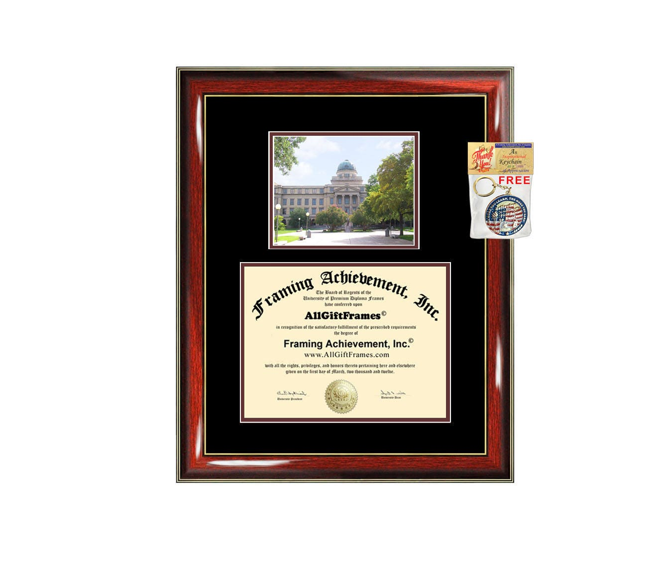 Texas A&M University College Station diploma frame campus