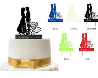 Personnalisé Cake Topper gâteau fiche gâteau gâteau de mariage scène 5