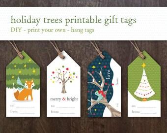 Printable Holiday Gift Tags - Printable Christmas Gift Tags - Printable Christmas Tags - Children's Holiday Tags - Printable Holiday Tags