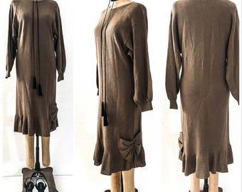 70s Vintage Clothing 70s VINTAGE DRESS 60s Dress 60s Clothing Vintage Dresses for Women Vintage DESIGNER Clothing Knit Dress Vintage Hippie