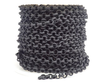4.8mm Rolo Chain - Midnight Black - CH80 - Choose Your Length