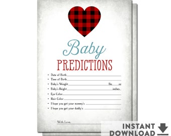 SALE Baby Predictions for Baby Game Sweetheart Baby Shower Valentine Heart Baby Shower Games (INSTANT DOWNLOAD) Printable No.1071BABY
