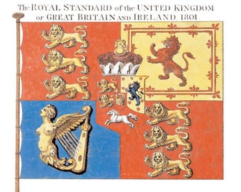 Blank Greetings Card - The Royal Standard of the United Kingdom, 1801