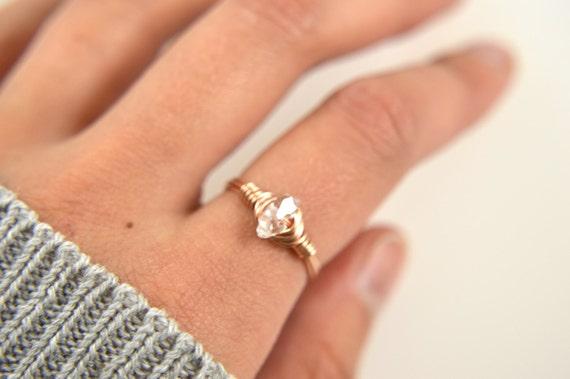 Herkimer Diamond Wire Ring