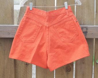 Vintage Bright Orange High Waisted Shorts