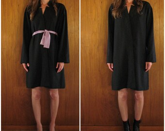 JIL SANDER black wool tunic dress, 36 m