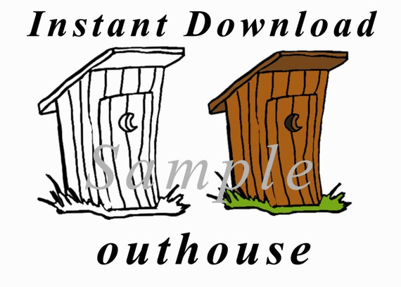instant download outhouse clipart png 300 dpi from tmpricedesigns rh etsystudio com cartoon outhouse clipart free