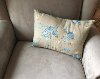 Blue Rose Decor Pillow
