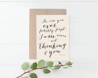 Virginia Woolf Romantic Greeting Card
