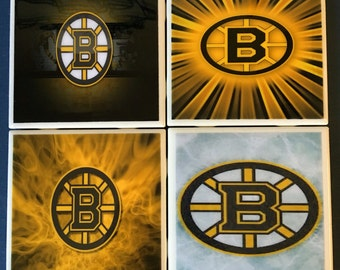 Boston Bruins coaster set