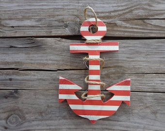 Anchor Decor - Beach Decor - Sailing Decor - Nautical Door Hanger - Anchor door Hanger